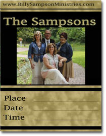 2015 Sampson Family appearance poster